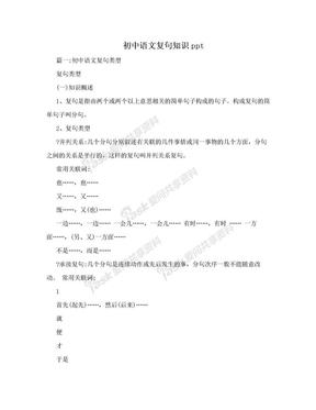 初中语文复句知识ppt.doc