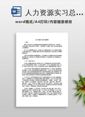 人力资源实习总结范文精选.docx