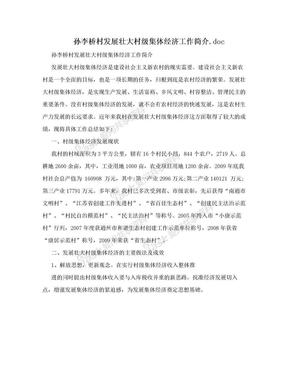 孙李桥村发展壮大村级集体经济工作简介.doc.doc