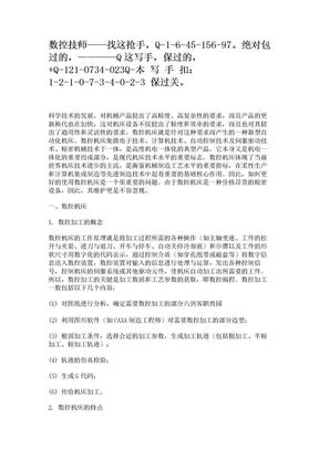 数控技师论文.doc