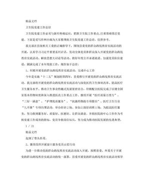 卫生院党建工作总结.doc