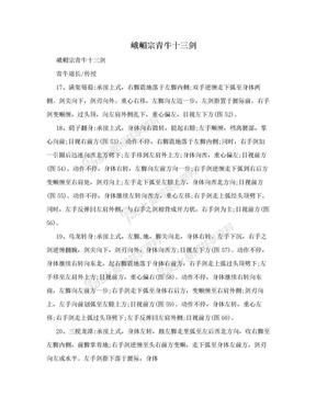 峨嵋宗青牛十三剑.doc