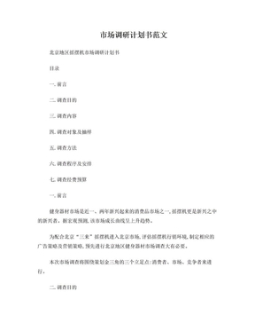 市场调研计划书范文.doc
