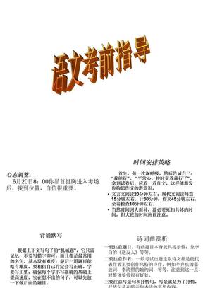 中考语文考前指导.ppt