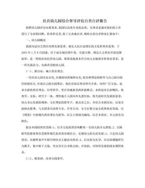 县直幼儿园综合督导评估自查自评报告.doc