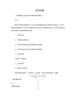 大学物理实验仿真实验实验报告.doc