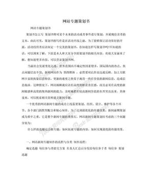 网站专题策划书.doc