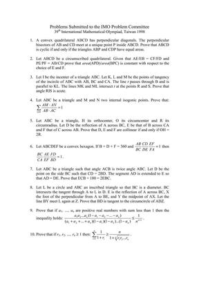 IMO预选题1998.pdf
