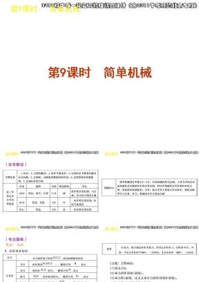 2012版中考一轮复习物理精品课件(含2011中考真题北京专版)第9课时简单机械(25ppt).ppt