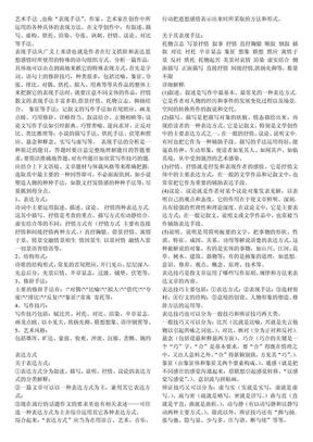 高中语文答题 各种艺术手法 表现手法.pdf