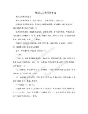 峨眉大力鹰爪童子功.doc