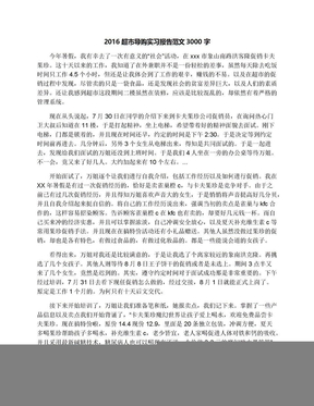 2016超市导购实习报告范文3000字.docx