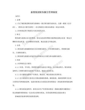 新奥集团财务报告管理制度.doc