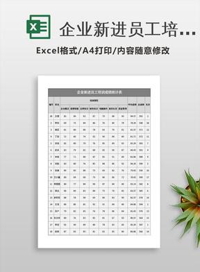 企业新进员工培训成绩统计表.xlsx