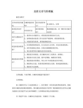 竞价文章写作模板(企划-文案).doc