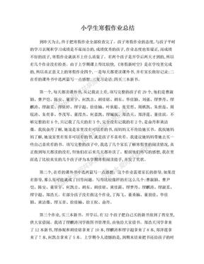小学生寒假作业总结.doc