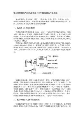 索尔维制碱法与侯氏制碱法.doc