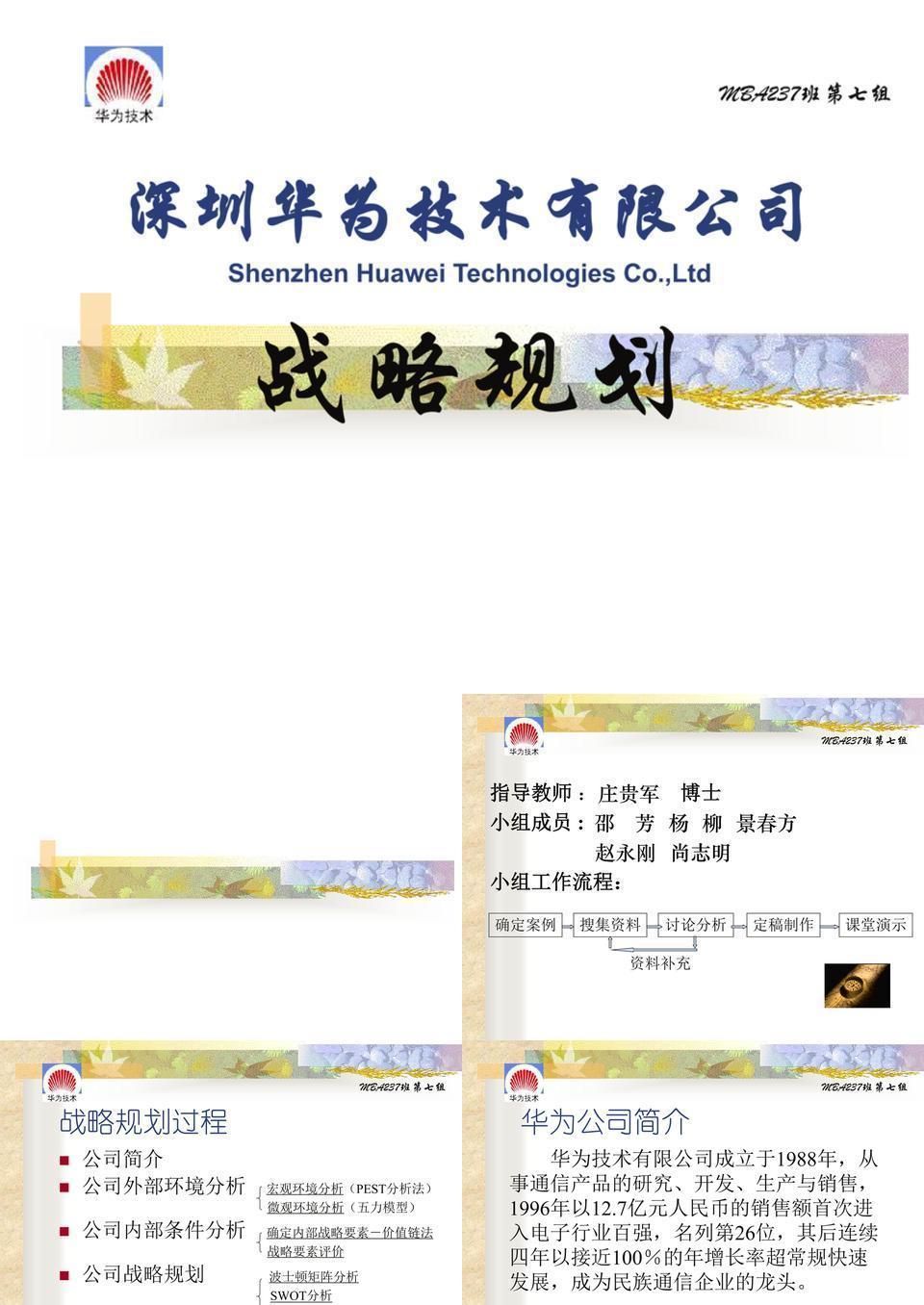 深圳华为技术有限公司战略规划.ppt