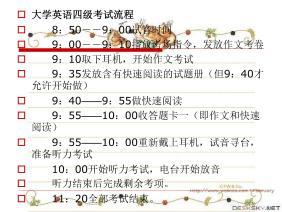 大学英语四级考试流程