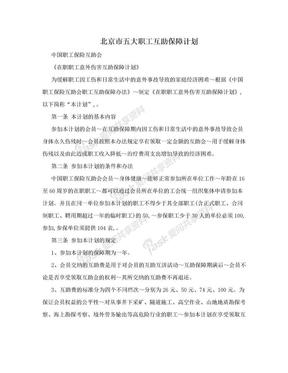 北京市五大职工互助保障计划.doc