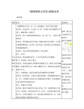 保额销售五步法(精华版).doc