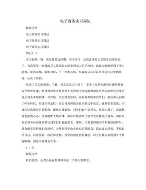 电子商务实习周记.doc