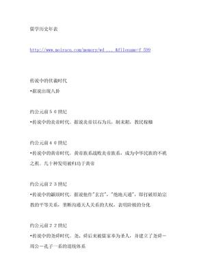 儒学历史年表.doc