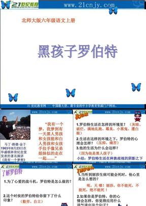 (北师大版)六年级语文上册课件 黑孩子罗伯特.ppt