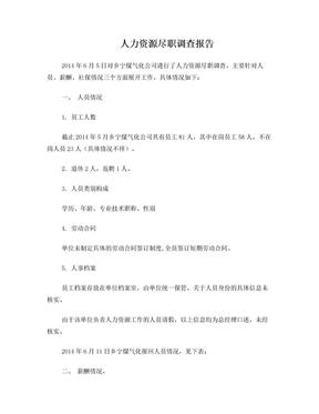 人力资源尽职调查报告.doc