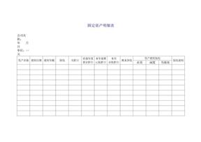 固定资产明细表Excel模板.doc