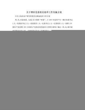 关于增补党委委员选举工作实施方案.doc