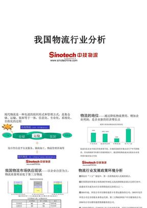 物流案例-中国物流行业分析