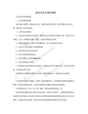 农民合作社规章制度.doc