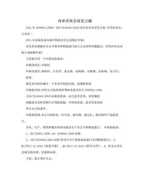內審首次會議發言稿.doc
