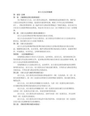 业主大会议事规则.doc