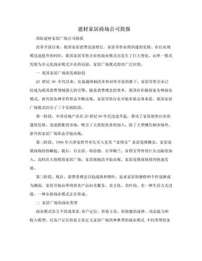 建材家居商场公司简报.doc