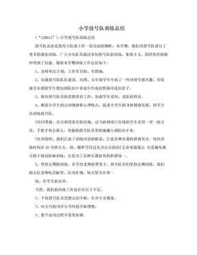小学鼓号队训练总结.doc