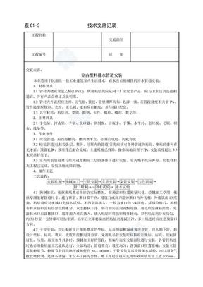 室内塑料排水管道安装技术交底_secret.doc