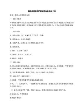 脑泉小学防火防震演练方案,总结201.docx