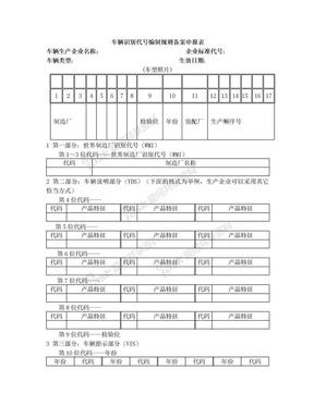 车辆识别代号编制规则备案申报表空白.doc