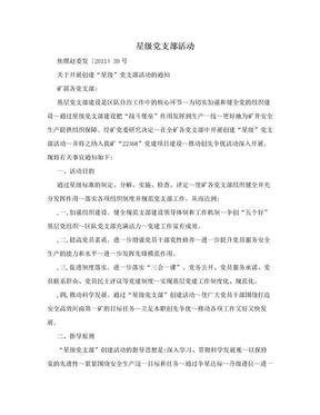 星级党支部活动.doc
