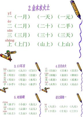 2016最新部编本一年级语文上册生字组词.ppt