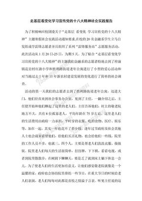 走基层_看变化_宣传党的十八大精神_社会实践调查报告.doc