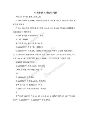 中国和世界历史时间轴.doc