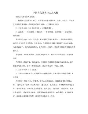 中国古代著名诗人及风格.doc