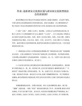 唐宋文化比较与唐宋文化转型.doc