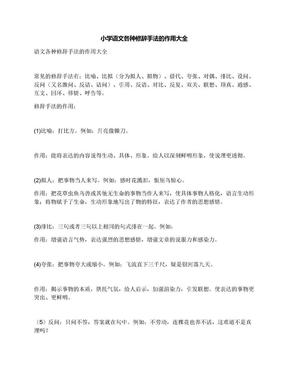 小学语文各种修辞手法的作用大全.docx