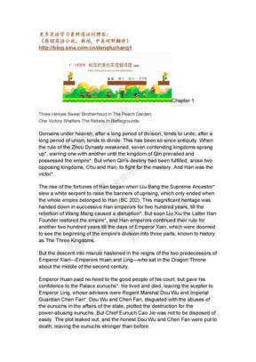 英文版三国演义(1-60章文件太大分开总120章).doc