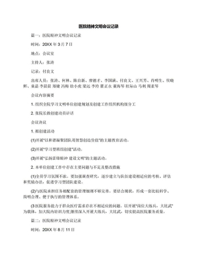 医院精神文明会议记录.docx