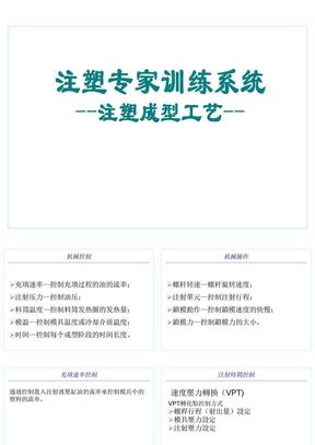 注塑专家训练系统_注塑成型工艺.ppt